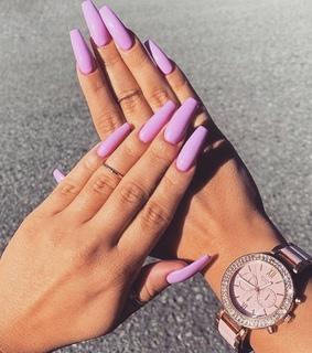 hands, nails and purple
