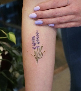 tattoo, art and lavender