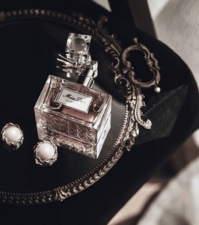 luxury, perfume and necklace