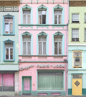 pastel, pink and architecture