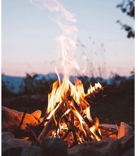 campfire, aesthetic and peaceful