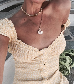 pearls, yellow and accessories