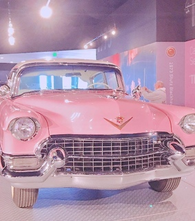 pink, vintage retro and car cars