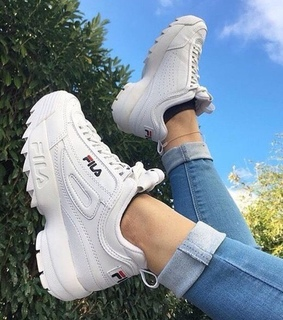 Fila, white shoes and shoes