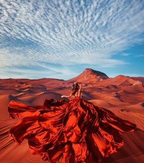 photo, red and desert