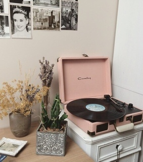 pink, aesthetic and turntable
