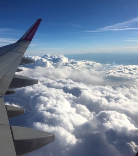sky, aesthetic and airplane