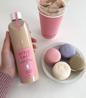 beautiful love glam, macaron and coffee