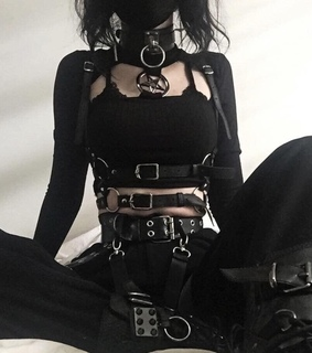 outfits, goth and hell
