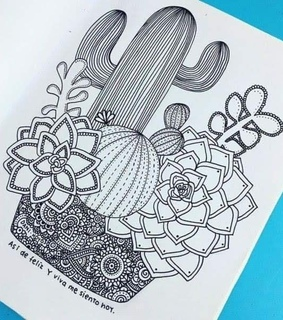 drawing, zentangle art and mandalas