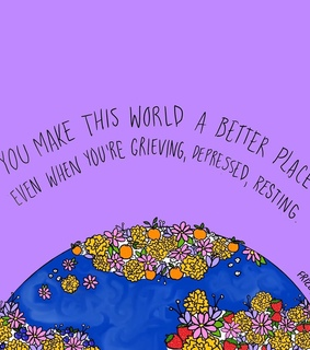 encouragement, world and purple