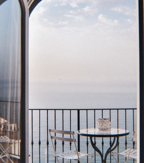 balcony, view and ocean