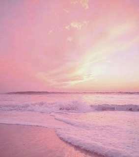 beach, pink and cool