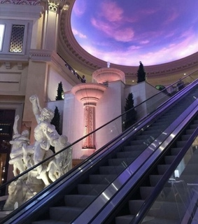 vaporwave, escalator and architecture
