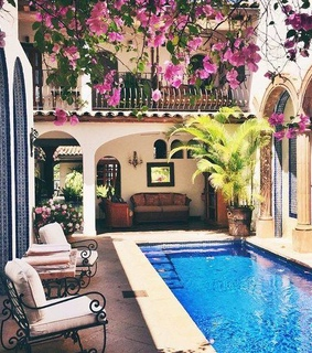 swimming pool, summer and cozy