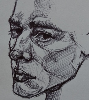drawing, sketch and portrait