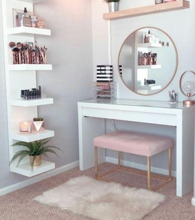 room, decoration and mirror