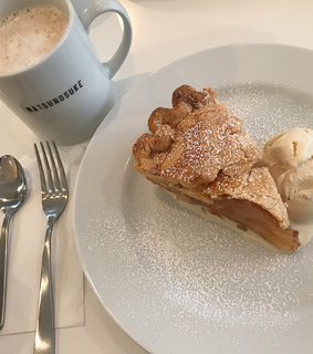 pie, morning and food