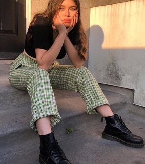 green, dr martens and style