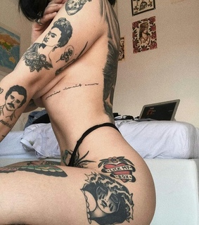 body, tattoo and beautiful