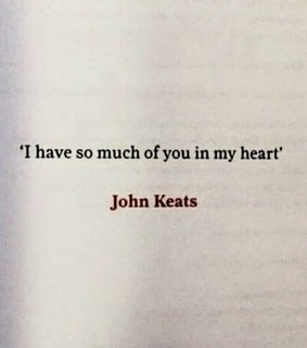 red, quote and john keats