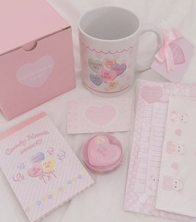 cute, cup and pale pink