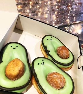 green, instagram and donut