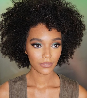 curly fro, curly hair and brown skin
