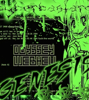 grunge, green and cyber