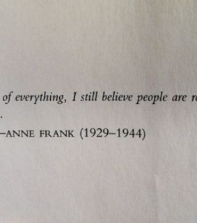 anne frank, frases and love