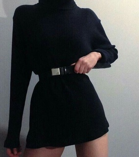 aesthetic, ropa and black