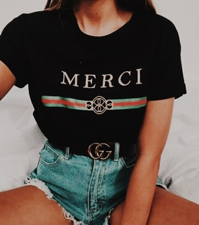 faux gucci shirt, gucci belt and vsco