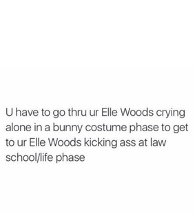 elle woods, white and motto