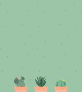 cactus, iphone and art