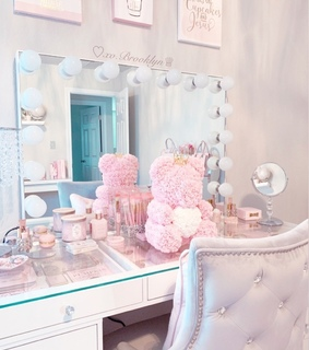 floral, room and pastel pink