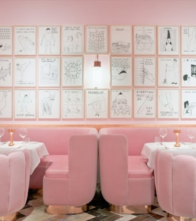 fancy, meal and pastel pink