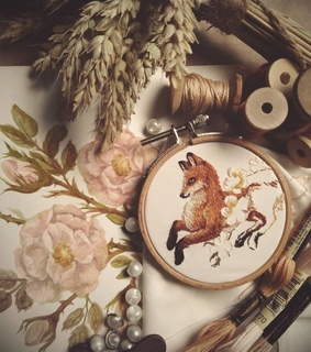 nature, arts and crafts and embroidery
