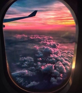 airplane, scenery and sky