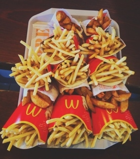 macdonald's, fries and food