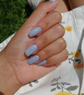 blue, gelish and nails