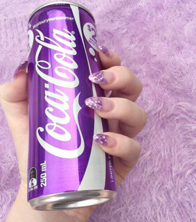 purple color, color and coca cola