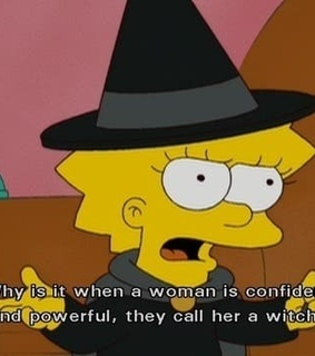 the simpsons, lisa simpson and confident