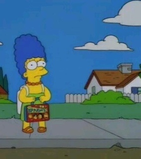 the simpsons, marjorie bouvier and marge simpson