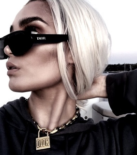 blonde hair, dior and necklace