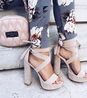 floral, bag and shoes