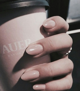 pink nails, coffee and nails