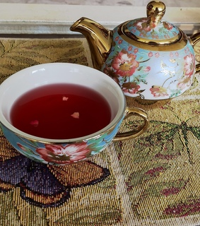 tea, cherry and cup of tea