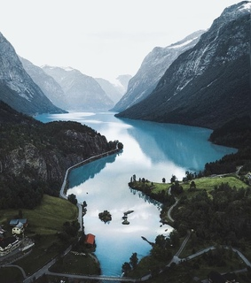 norway, landscape and instagram
