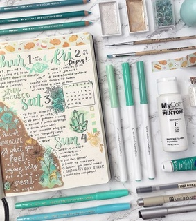 stationery, journal and bullet journal