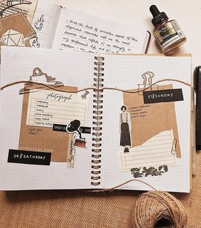 weekly spread, stationery and supplies